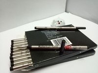 Wholesale refill point - New Lot of 12 Pcs MB Rollerball Pen Black Blue 710 Refill Medium Point can mixed collocation