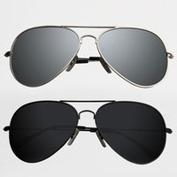Wholesale Wholesale Aviator Sunglasses - Wholesale-New Fashion Vintage Mens Classic Aviator Sunglasses HD Polarized Mirror Sports Outdoor Travel Glasses Eyewear Shades