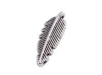 Wholesale Metal Feather Pendants Charms - 100PCS Tibetan Silver Metal Feather Charms Pendants A39361