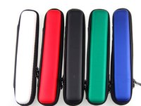 Wholesale Type Ce4 - Long Narrow Zipper Case Ego Case E Cigarette 2 Types E Cig Zipper Case Leather Bag For CE4 atomizer mini Protank 3 EVOD