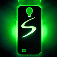 Wholesale S4 Cover Led - For Samsung S4 S5 S6 note2 LED LCD Color Changed Sense Flash light Case Cover hot case for note3