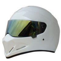 Gros-StarWars casque moto FRP SIMPSON, Star Wars casque de porc ATV - 4 Stig. blanc