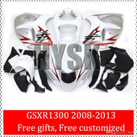 Wholesale Hayabusa Painted Fairing Kits - Hayabusa GSXR1300 2008 2009 GSXR 1300 2010 GSX-R1300 2011 2012 2013 Fairing Kits Of Suzuki White OEM Original Painting Fairings Free Gifts
