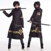 Wholesale Trafalgar Law S Coat - High Quality Trafalgar D Water Law Cosplay Long Coat Costume One Piece Cloak Capes For Women Free Shipping