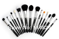 Sixplus-Black-15 Stk hochwertige Ziegenhaar Kit Pinceis Maquiagem Marke Professional Make-up Pinsel set.