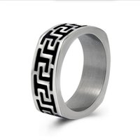 Wholesale Great Wall Gift - High Quality The Great Wall Pattern Men's Ring 316L Stainless Steel Ring Punk Biker Jewelry Free Shipping Hot Fashion-R0532