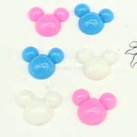 Wholesale Cartoon Minnie Mouse - 200pcs Kawaii Mixed Cute Resin minnie anime Bling cartoon Mouse Flatback Cabochon Craft Embellishment 24mm