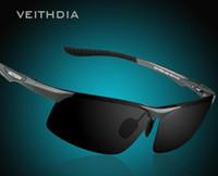 Wholesale Male Night - Wholesale-Aluminum Magnesium Polarized Sunglasses Men Sports Sun glasses Night Driving Mirror Male Eyewear VEITHDIA 6502 Goggle Oculos