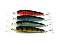 Wholesale trout minnow lures - Hengjia 50pcs Minnow Fishing Lure Bait trackle Floating trout Minnow 4 color 12.5CM 14G 4# hook Crankbait Top Quality