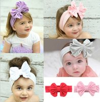 Wholesale Good Quality Hair Accessories - New Big Bow Infant Hair Band 20 Pieces Good Quality Headbands For Girl Multi-Colors Children's Hair Accessories