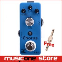 Wholesale Ex Micro - Chorus ENO EX Micro Pedal Chorus Pedal CH-2 9V DC input True Bypass TC 51 Free connector MU0136
