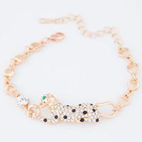 charme für armbänder eine richtung großhandel-Mode Korean Echt Vergoldung Kette Armbänder Armreifen Für Frauen Bijoux Lion Eine richtungen Charme Armbänder Armreifen