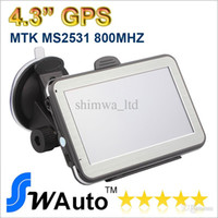Wholesale Gps Country - 4.3 inch MTK2531 V912S Car GPS Navigation Navigator FM Transmitter Multilingual Win CE 6.0 New Multi-country Map Free shipping