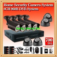Wholesale D1 Security System Hdmi - CIA- New 8ch CCTV System cmos 700TVL Waterproof IR Cameras Security Video System Network P2P Cloud HDMI 960H D1 DVR Recorder CCTV Systems