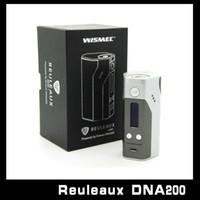 Wholesale E Cigarette Joytech - 100% Original Wismec Reuleaux DNA200 EVOLV DNA200 Chip Temperature Control Box Mod E Cigarette Mods VS RX 200S 18650 vs Joytech Cuboid 150W