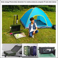 Wholesale Solar Portable Generator System - lage style Solar Energy Photovoltaic generator system 500W, 12V20AH lead acid for phone,pc,TV,DC fan,notebook,camera,digital audio