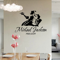 Wholesale Michael Jackson Wall Art - 2017 Dancing Michael Jackson Wall Stickers Removable Vinyl Wall Decor Wall Decals Art Poster DIY Home Decor