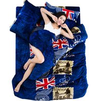 Wholesale Fleece Bedding Sets - Wholesale-Carol Flannel Fleece winter duvet cover sets twin full queen king size 3pc 4pc printed warm bedding set,fast shipping