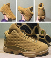 Wholesale Wheat Free - Wheat retro 13 Mens basketball shoes with box online wholesale best quality size eur 41-47 free shipping