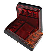 Wholesale led universal truck tail lights - 8 LED Car Truck Warning Lights Rear Lamps Car Styling Rear Parts for Trailer Truck Boat Waterproof DC 12V Car Tail Light