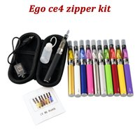 Wholesale Ego Multi Battery Charger - eGo-T ce4 E Cigarette e cig Starter Kits with 1.6ml CE4 atomizer Clearomizer 650 900 1100mAh ego-t Battery Zipper case usb charger