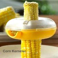 Wholesale Cooking Corn Cobs - 6 pcs Lot One step Corn kerneler Cob remover Corn shaver Peeler Cooking tools cozinha Kitchen utensils Novelty household 5138 , dandys