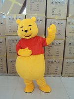Wholesale Mascot Yellow Bear - Mascot Costume Winnie The Pooh Cartoon Clothing Adult Size Bear+free shipping