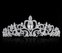 Wholesale pearls headband - High Quality Shining Beaded Crystals Wedding Crowns Bridal Veil Tiara Crown Headband Hair Accessories Party Wedding Tiara