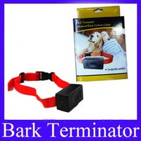 Wholesale Terminator Barking Collar - Dog collar bark terminator advanced bark control collar MOQ=1 free shipping