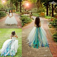 Wholesale Dress Child One Shoulder - Flower Girl Dresses Children 2017 Cheap Handmade Girls Pageant Dresses Ball Gown One Shoulder Lace Bodice Ruched Back Sweep Train Tulle