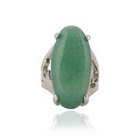 joyería china de alta calidad al por mayor-12 unidades / lote de alta calidad Anillo de piedra natural del encanto del anillo de piedra verde para las mujeres joyería china