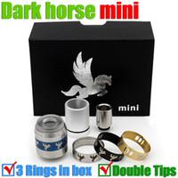 Wholesale Wholesale Ring Boxes Metal - mini Dark horse 4 rings in 1 box RDA Mods Rebuildable atomizers airflow control big Drip Darkhorse Atomizer 22mm e cigs cigarette mods RBA