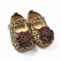 Wholesale Toddler Leopard Sneakers - High Quality Baby Girl Leopard Shoes Infant Big Flower Sneakers Soft Bottom Toddler Footwear Hot KS81205-101