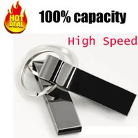 Wholesale Silver Pen Drive - hot sale new usb flash drive 128GB pen drive pendrive 128gb waterproof metal silver u disk memory disk usb 2.0