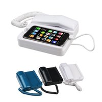 Wholesale Pop Handset - Wholesale-AT-606TP Retro POP Phone Telephone Handset Landline Dock Stand Radiation-proof for iPhone 4S 4 3GS with Retail Package