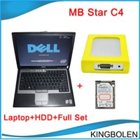 Wholesale Star Compact Laptop - Newest MB STAR C4 2014.07 software professional diagnostic tool for Mercedes- Benz Star compact C4 with Dell Laptop DHL Free Shipping