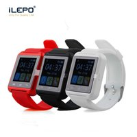 Wholesale Hot Portuguese - Hot Bluetooth Smartwatch U8 Smart Watch Wrist Watches for iPhone 4 4S 5 5S Samsung s7 HTC Android Phone Smartphone