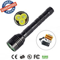 Wholesale Cree Extendable - AloneFire HF3 3T6 Flashlight 5000LM 3x CREE XM-L XML T6 LED Flashlight18650 Battery Extendable High Power Torch + 18650 battery + charger