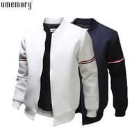 Wholesale Long Sleeve Collar - Fall- Fashion Brand Casual Bomber Jacket Men Outdoor Coats Veste Homme Jaqueta Moleton Masculina Chaqueta Hombre Casaco Free Ship