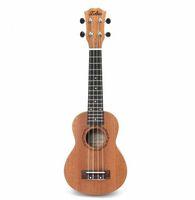 Wholesale guitar frets - 21 inch 15 Frets Mahogany Soprano Ukulele Guitar Uke Sapele Rosewood 4 Strings Hawaiian Guitar Musical Instruments For Beginners