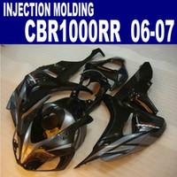 Wholesale cbr plastics - Injection molding high grade fairings set for HONDA 2006 2007 CBR1000RR 06 07 CBR 1000 RR silver black plastic fairing kit AQ32