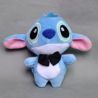 Livraison gratuite New Cute Stitch Plush Keychain Doll Stuffed Toy 4