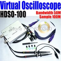 Wholesale HDSO M Dual Channel USB Digital Virtual Oscilloscope M Sampling Rate Support WIN7 Oscilloscope portable order lt no t