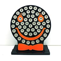 Wholesale Smile Face Button - New Arrival 12mm Snap Button Display Stands Fashion Cute Smiling Face Black Acrylic Interchangeable Jewelry Display Board