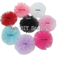 Wholesale Gauze Hair Flower - Free Shipping!80pcs lot Gauze Flower For Children Baby Boutique Hair Accessories By Handmade Baby Girls Beautiful Flowers