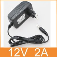 Wholesale Dc Switching Power Adapter Universal - 100-240V to DC 12V 2A Switch Switching Power Supply Converter Adapter EU Plug