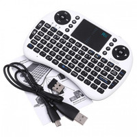 Al por mayor-100% genuino i8 Rii + teclado del aire del ratón 2.4G Wireless Mini RII de la superficie táctil de juego del ratón Keybord para HTPC Tablet PC portátil
