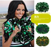 Wholesale Game pompoms g Cheering pom pom plastic handle style Cheerleading Flower dance hand ball cheerleading ball color option