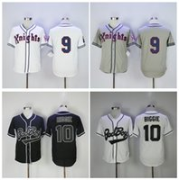 Mauvaise Maillot Garçon Pas Cher-Qualité supérieure ! Bad Boy Movie 10 Biggie Jersey Roy Hobbs Maillot # 9 New York Knights Le film naturel Throwback Baseball Jerseys