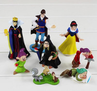 Wholesale Doll Princes - 2016 Princess Snow White And The Seven Dwarfs Queen Prince PVC Figure Toys Dolls 4~10cm Great Gift